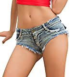 Watopi Sommer sexy Frauen Hotpants, Jeans Shorts niedrige Taille Jeans Super Mini Shorts