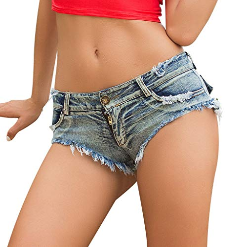 Watopi Sommer sexy Frauen Hotpants, Jeans Shorts niedrige Taille Jeans Super Mini Shorts -