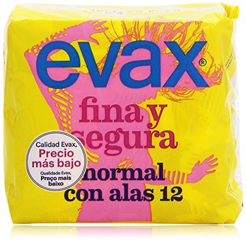 Evax Fina Segura Normal Compresas Con Alas - 12 Unidades
