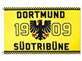 Dortmund Fahne Meisterfahne Flagge Dortmundfahne Hissfahne Zimmerfahne, wählen:FL-DO09 Dortmund Südtribüne