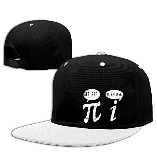 Aeykis Get Real Be Rational Pi Hip Hop Baseball Caps Breathable Flat Bill Plain Snapback Hats Royalblue (Camo Cap Flat Bill)