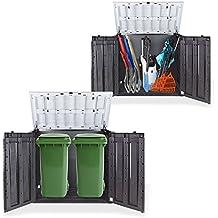 Koll Living Gartenbox Mülltonnenbox Gerätebox Schuppen für 2x 240 Liter Mülltonnen Gratis nur bei uns : inkl. Vorhängeschloss