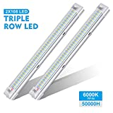 AMBOTHER Luci Interne 12V LED Strip Lights 108 LEDs Bar Lampada Illuminazione Universale DC12V 4W per Auto Camper Van Bus Caravan Boat Motorhome Cucina Bagno 340 MM ON/off Interruttore