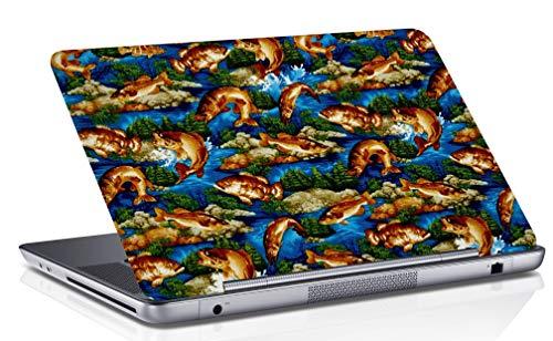 RADANYA Laptop-Haut Digital Fisch Gedruckt Multicolor Laptop Notebook Vinyl Haut Aufkleber Schutzabdeckung Fall 14,1 Zoll Bis 15,6 Zoll