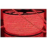 Premium Quality Water Proof 5 Meter LED Rope Light/Strip Light/Cove Light/Rope Light Color: Red With Adapter. Exxtra Brightness And Thiick Silicon Coating.