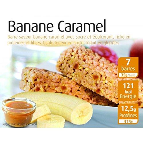 Efféa - 7 Barres proteinées banane caramel - 35Gr