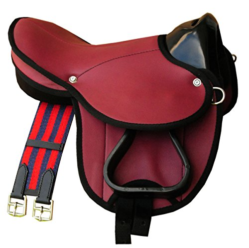 Pony-Shettysattel LittleBilly, komplettes Set auch für Holzpferde - Farbe: rot Sattelset für Pony oder Shetty oder Holzpferde