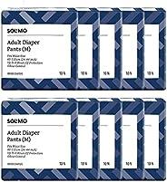 "Amazon Brand - Solimo Adult Diaper Pants - 10 Count (Medium) - Waist Size 60-110 cm (24"" - 44"") -"