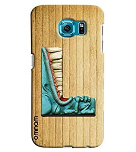 Omnam Single Name Stylish Alphabet L Printed Designer Back Cover Case For Samsung Galaxy S7 EDGE