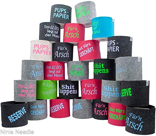 Toilettenpapier Banderole bedruckt versch. Farben und Größen [Wunschanfertigung]