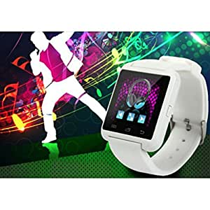 CASVO Celkon C250+ COMPATIBLE Smart Android U8 Bracelet Watch and Activity Wristband, Wireless Bluetooth Connectivity Pedometer, WHITE,