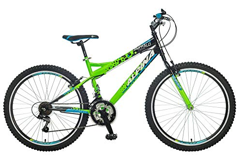 breluxx® 26 Zoll Mountainbike Hardtail Buffalo Sport grün, 18 Gang Shimano - Modell 2019 Besten Bikes Buffalo
