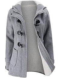 Mujer Invierno Abrigo Casual Sudadera con Capucha Chaqueta de Lana Capa Jacket Parka Pullover by Amlaiworld