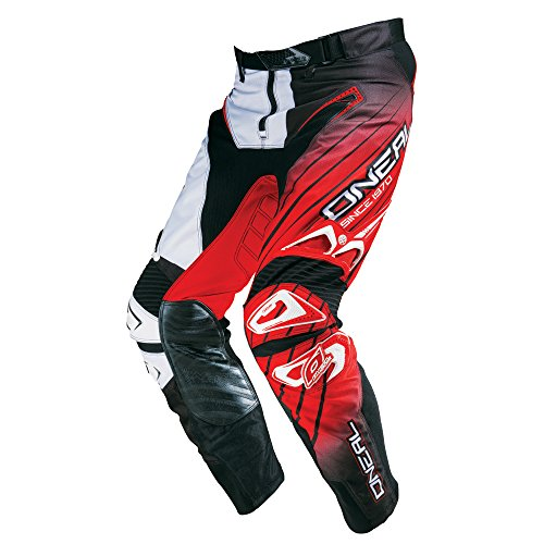 O'Neal Hardwear MX Hose RACEWEAR Schwarz Weiß Rot Motocross Enduro Cross Motorrad Pant, 0127H-3, Größe 34/50 (Mx-hose)