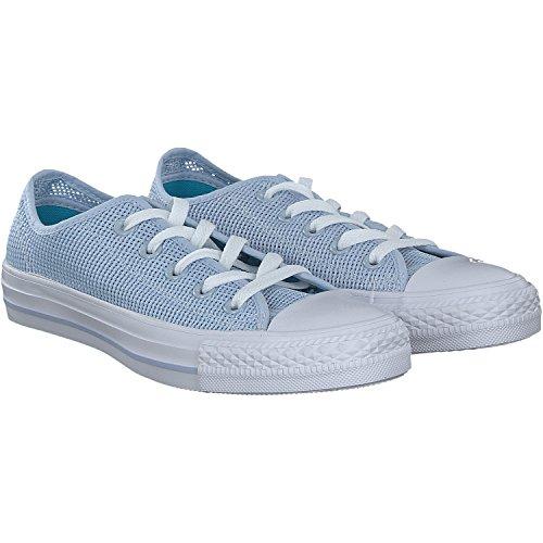 Converse All Star OX Damen Sneaker Blau Blau (Porpoisefresh Cyanwhite Porpoisefresh Cyanwhite)
