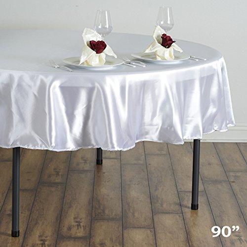 m Satin Rund Tischdecken Hochzeit Tisch Linens Decor weiß (Rabatt Baby-dusche Dekorationen)
