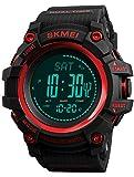 Homme altimètre Baromètre Boussole numérique Sports de plein air montre podomètre Fitness tracker d'activité