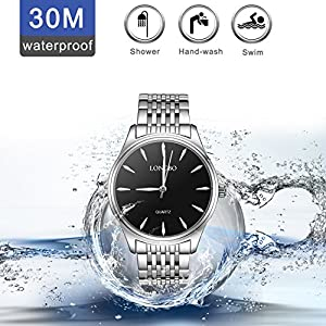 Woman Watch,Ladies Watches Sale Clearance,LONGBO Stainless Steel Sport Quartz Ladies Wrist Watches,30M Automatic…