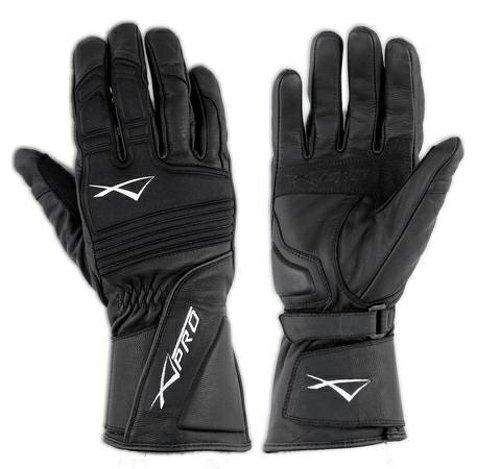 A-Pro Handschuhe Motorrad Leder Textil Roller Enduro Atmungsaktiv Schwarz S