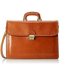 Organizador del bolso de los hombres, caja elegante, Maletín, cuero genuino del 100% Made in Italy