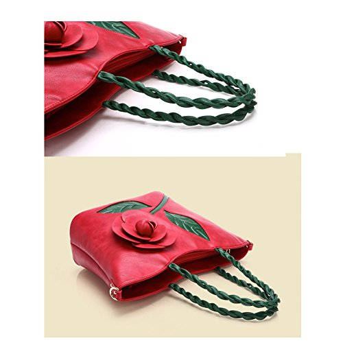 Taschen Handtaschen Damen Einfach Henkel Tasche Elegant wasserdichte Handtasche Kunstleder Schultertasche Grün