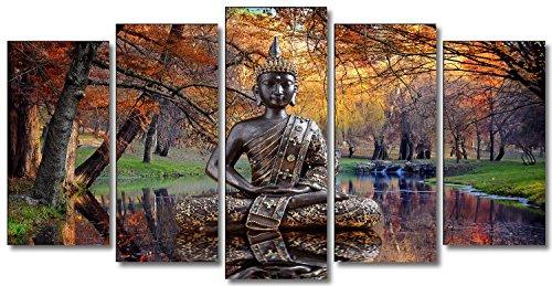 Dekoarte 17 cuadro moderno de buda sobre agua en paisaje for Cuadro en lienzo modernos