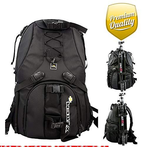 XTREMplus Active Cube X Rucksack - Premium Foto Kamerarucksack - Kamera Rucksack mit Zugriff über die Seiten und Laptopfach - Slingbag -...