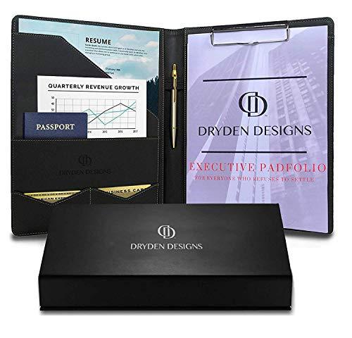 Portafolio Dryden Lujo Portapapeles - Cuero Artificial
