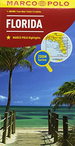 Florida 1:800.000 (Carte stradali Marco Polo)