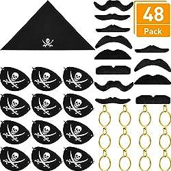 Accesorios para capitán pirata, set de 48 pz.