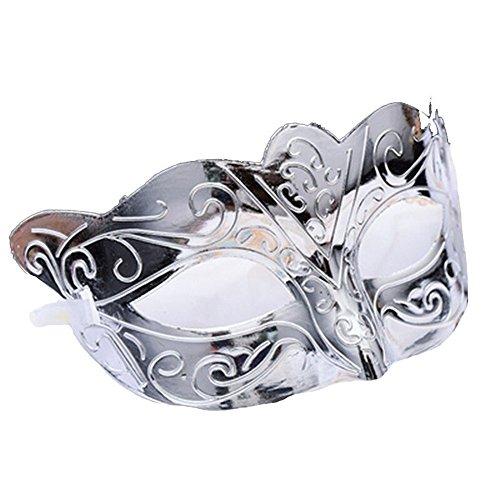 Masken Gesichtsmaske Gesichtsschutz Domino falsche Front Halloween Halbes Gesicht Maske hübsche Coole Maske männlicher Ball Party Baron Silber Baron Silber