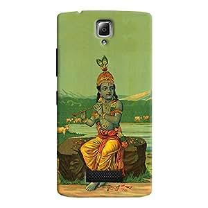 ColourCrust Lenovo A2010 Mobile Phone Back Cover With Vintage Krishna Poster - Durable Matte Finish Hard Plastic Slim Case