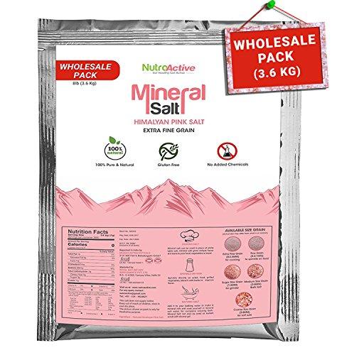 NutroActive Mineral Salt (HIMALAYAN PINK SALT) Extra Fine Grain (0 -0.5 mm) – Wholesale Pack – 3.4 Kg