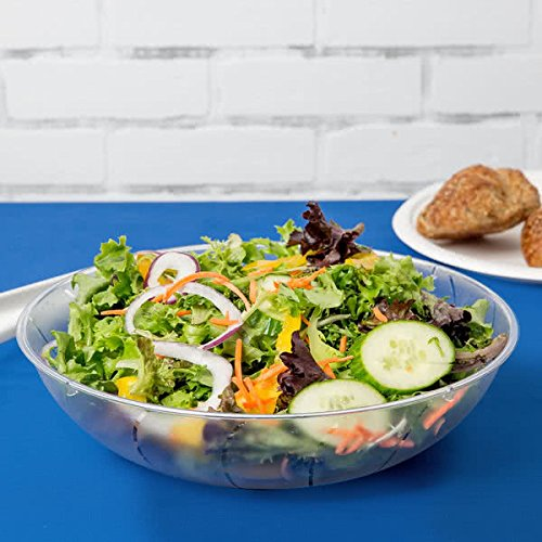 heavywight Salatschüssel Kunststoff/Servieren Schalen–Klar–1Liter–2Pack