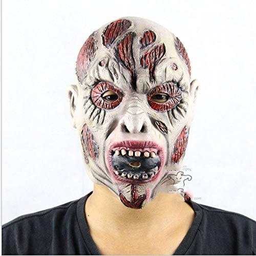 AIYA Latex Zombie Mummy Mask Narr Halloween Party Performance Requisiten Terrorist Maske (Mummys Tag Kostüm)