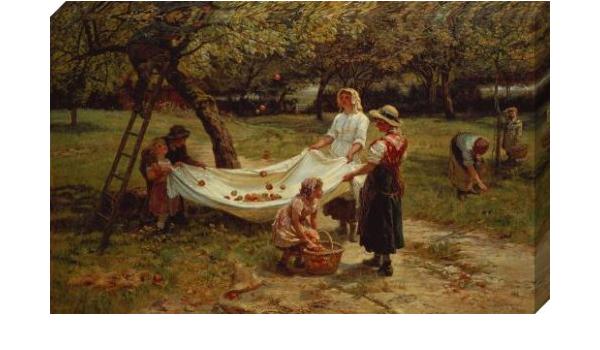 Home Decor 1880 Canvas Wall Art Print The Apple Gatherers