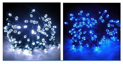 dodocool 2 Stücke (ein Blau und ein weiss) Neu17m 100 LED Solar Strahler Wasserdicht LED-Leuchten Licht lichterkette für Weihnachten Dekoration, Weihnachten, Party, Garten, Hochzeit, Weihnachten von dodocool bei Lampenhans.de