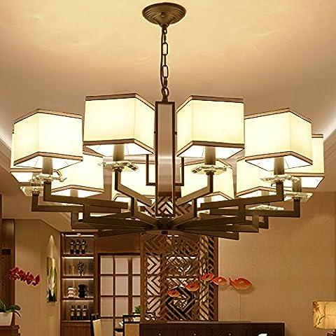 LINA-Salotto Cinese lampada lampadario moderno ristorante retrò lampadario in ferro camera da letto luce a soffitto