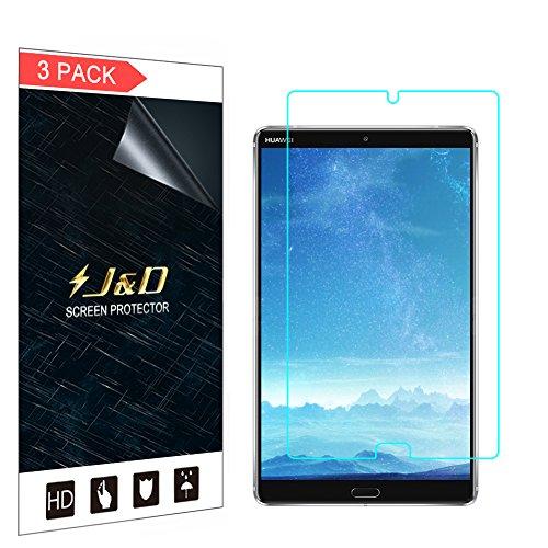 J und D Kompatibel für 3er Set Huawei MediaPad M5 8.4 inch Bildschirm Schutzfolie, [Ganze Deckung] Premium HD-Clear Schutzfolie für Huawei MediaPad M5 8.4 inch