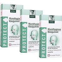 BADERs Protect Mundhygiene Kaugummi aus der Apotheke. Teebaumöl, Grüntee und Xylit. 3 x 16 Stück