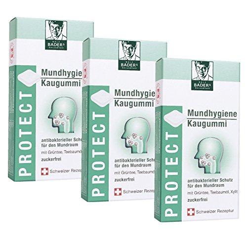 BADERs Protect Mundhygiene Kaugummi aus der Apotheke. Antibakterieller Schutz für den Mundraum mit...