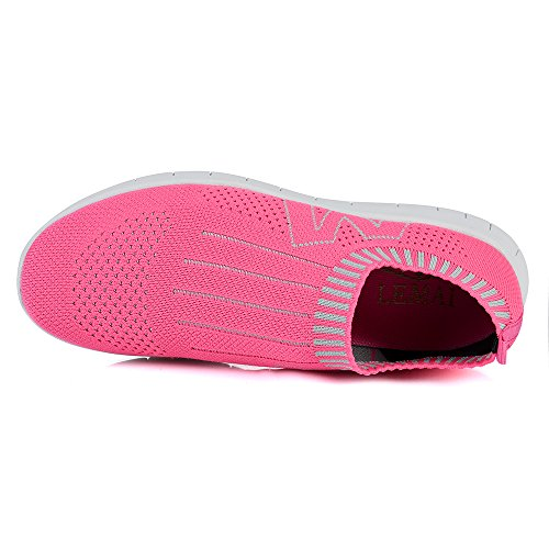 Creeker Femmes Chaussures de Basket Chaussuresde Course Running Sport Aquatique Respirante En Mesh En Plein Air Outdoor Plage Camping Rose
