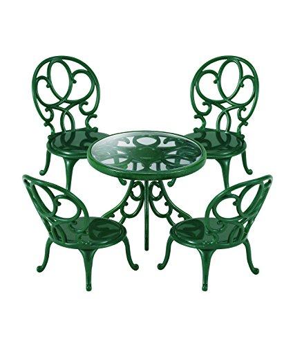 Sylvanian Families-4507 Animales Mesa y sillas de jardín, Color Verde (Epoch para Imaginar 4507)