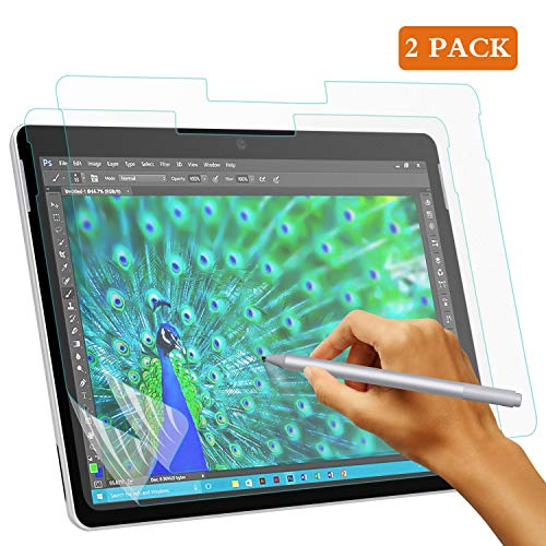 TiMOVO Matte Displayschutzfolie Ersatz für Surface Pro 6/5/4/LTE, [2 PCS] Anti Reflex Schutzfolie Displayschutz wie Papier Kompatibel für Microsoft Surface Pro 6/5/4/LTE - Bereift