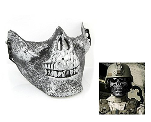 Strike Kostüm Counter - Inception Pro Infinite Silbermaske - Skelett - Cs - Counter Strike - Militär - Verkleidungen - Halloween - Karneval - Armee