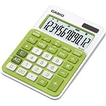 Casio MS-20NC-GN-S-EC - Calculadora básica (con panel solar y batería, 22 x 104.5 x 149.5 mm), color verde