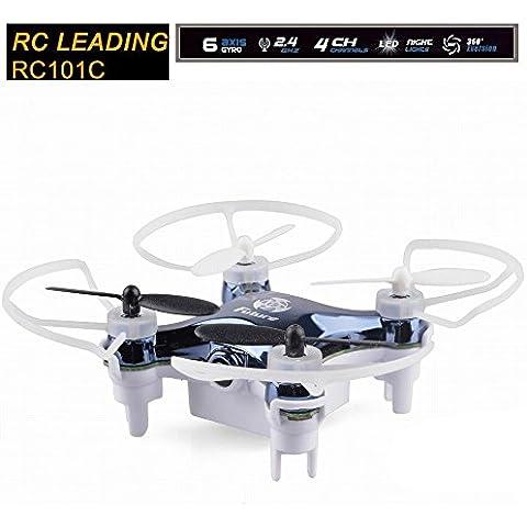 RC LEADING ® RC101C Nano Spy Drone - 30 M - 2.4GHz Caméra 0,3MP - 4 Go