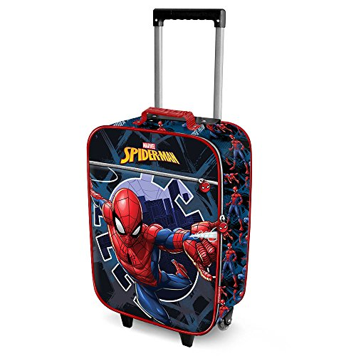 Karactermania Spiderman Hero-Soft 3D Trolley Suitcase Valigia per bambini, 52 cm, 23 liters, Blu (Blue)