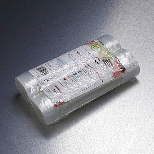 Sacchetti sottovuoto alimenti 20x600 cm - 2 rotoli