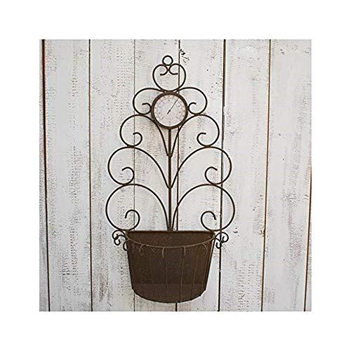 Amerikanischen Retro Lack Rost Farbe Garten Dekoration Garten Wand Wand Dekoration Schmiedeeisen Blume Stand Ornamente FenPing (Farbe : Schwarz)